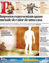 capa Público de 18 janeiro 2019