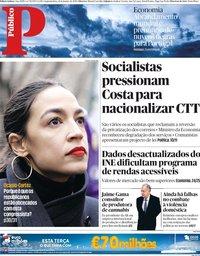 capa Público de 21 janeiro 2019