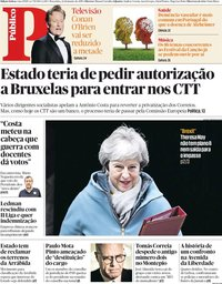 capa Público de 22 janeiro 2019