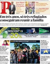 capa Público de 26 janeiro 2019