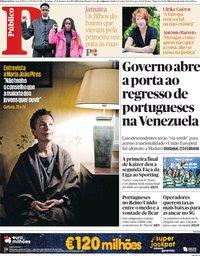 capa Público de 27 janeiro 2019