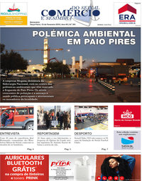 capa Jornal Comércio do Seixal e Sesimbra