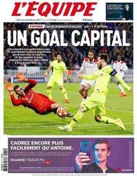 capa de Jornal L'Équipe