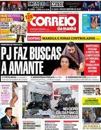 capa Correio da Manhã de 1 março 2019