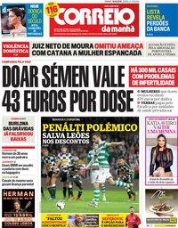 capa Correio da Manhã de 10 março 2019