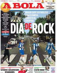 capa Jornal A Bola de 9 abril 2019