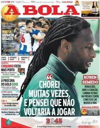 capa Jornal A Bola de 21 abril 2019