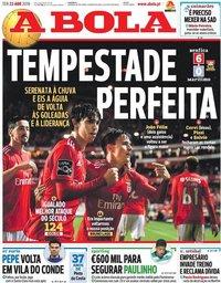 capa Jornal A Bola de 23 abril 2019