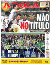 capa Jornal A Bola de 29 abril 2019