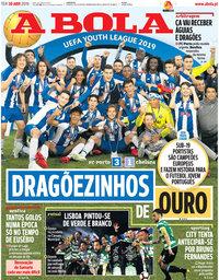 capa Jornal A Bola de 30 abril 2019