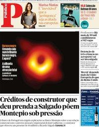 capa Público de 11 abril 2019