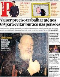 capa Público de 12 abril 2019
