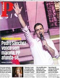 capa Público de 29 abril 2019