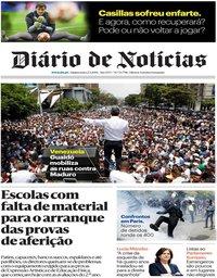 capa Diário de Notícias de 2 maio 2019