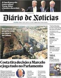 capa Diário de Notícias de 5 maio 2019