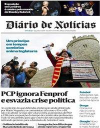 capa Diário de Notícias de 7 maio 2019