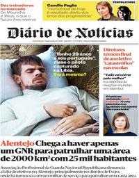 capa Diário de Notícias de 8 maio 2019