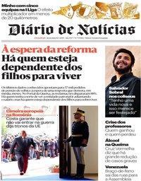 capa Diário de Notícias de 10 maio 2019