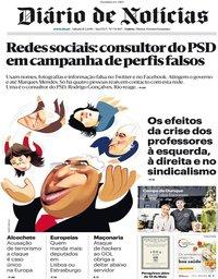 capa Diário de Notícias de 11 maio 2019