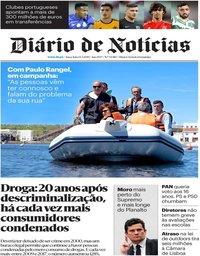 capa Diário de Notícias de 14 maio 2019