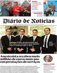 capa Diário de Notícias de 20 maio 2019