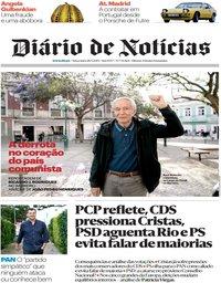 capa Diário de Notícias de 28 maio 2019