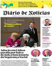 capa Diário de Notícias de 29 maio 2019