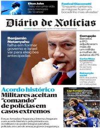 capa Diário de Notícias de 30 maio 2019