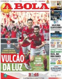 capa Jornal A Bola de 5 maio 2019