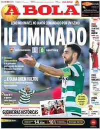 capa Jornal A Bola de 6 maio 2019