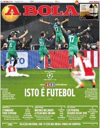 capa Jornal A Bola de 9 maio 2019