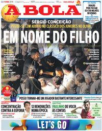 capa Jornal A Bola de 16 maio 2019