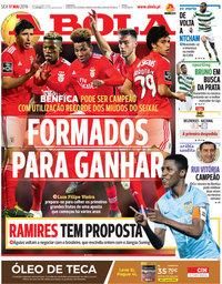 capa Jornal A Bola de 17 maio 2019