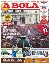 capa Jornal A Bola de 21 maio 2019