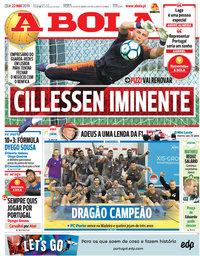 capa Jornal A Bola de 22 maio 2019