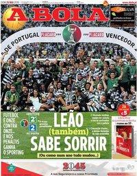 capa Jornal A Bola de 26 maio 2019