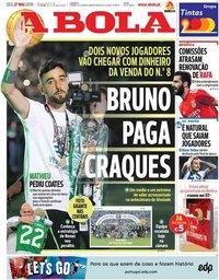capa Jornal A Bola de 27 maio 2019