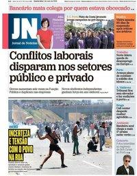 capa Jornal de Notícias de 1 maio 2019