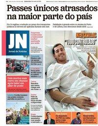 capa Jornal de Notícias de 2 maio 2019