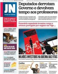 capa Jornal de Notícias de 3 maio 2019