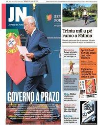 capa Jornal de Notícias de 4 maio 2019