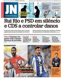 capa Jornal de Notícias de 5 maio 2019