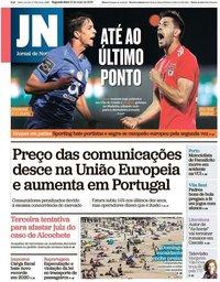 capa Jornal de Notícias de 13 maio 2019