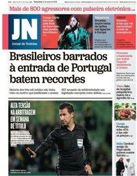 capa Jornal de Notícias de 14 maio 2019