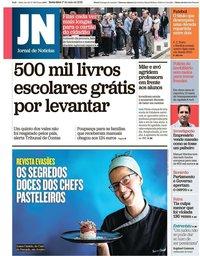 capa Jornal de Notícias de 17 maio 2019