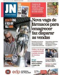 capa Jornal de Notícias de 18 maio 2019
