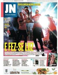 capa Jornal de Notícias de 19 maio 2019