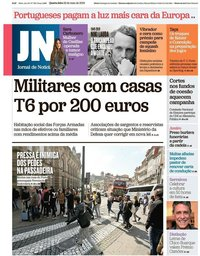 capa de Jornal de Notícias