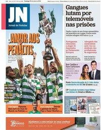 capa Jornal de Notícias de 26 maio 2019