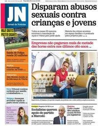 capa Jornal de Notícias de 28 maio 2019